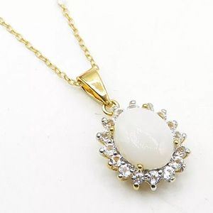 Jewelry - OPAL AND WHITE TOPAZ NECKLACE
